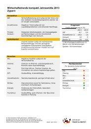 Wirtschaftstrends kompakt Jahresmitte 2013 - Germany Trade and ...
