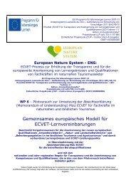ECVET Learning Agreement Model (Common Base) - German