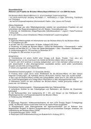 Gesamtüberblick Aktionen und Projekte der Brücken-Allianz Bayern ...
