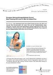 Bad Füssing 2012 zum 9. Mal mit Gäste-Plus