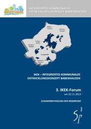 3. IKEK-Forum 22.11.2013 - Zusammenfassung der Ergebnisse ...