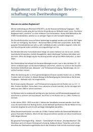 Varianten zum Reglement zur Förderung der Bewirtschaftung von ...