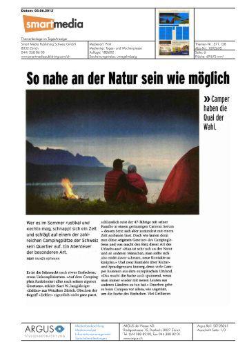Smart Media im Tages-Anzeiger - Best of Swiss Gastro