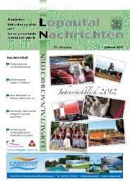 Lopautal Nachrichten 02/2013 - Amelinghausen