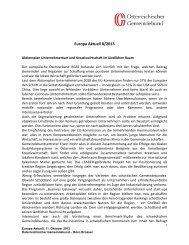 Europa Aktuell 8/2013 - Österreichischer Gemeindebund