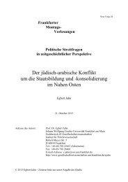 Der jüdisch-arabische Konflikt um die Staatsbildung und - Goethe ...