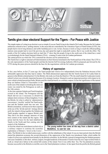 Tamils give clear electoral Support for the Tigers – For Peace with ...