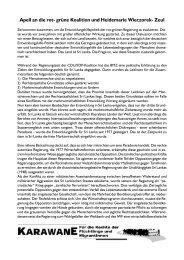 Apell an die rot- grüne Koalition und Heidemarie Wieczorek- Zeul