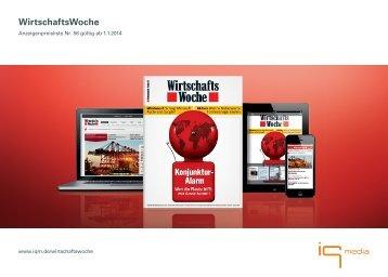 WirtschaftsWoche - Preisliste 2014 - IQ media marketing
