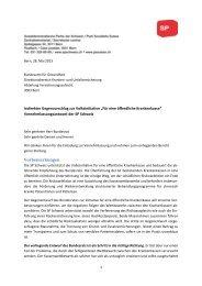 Öffentliche Krankenkasse und indirekter Gegenvorschlag - SP