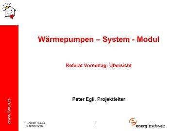 Wärmepumpen – System - Modul - Fws