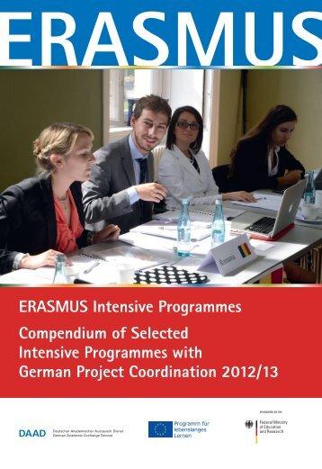 ERASMUS Intensive Programmes Compendium of ... - eu-DAAD