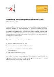 Bewerbungsformular für die Ehrenamtskarte NRW - Gemeinde Alfter