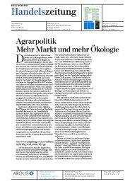 Agrarpolitik Mehr Markt und mehr Ökologie - Bioaktuell.ch
