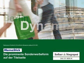 Sonderwerbeformen 2013 - MemoStick - Axel Springer MediaPilot