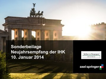 Sonderbeilage: Neujahrsempfang der IHK - Axel Springer MediaPilot