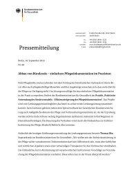 Pressemitteilung - Bundesministerium für Gesundheit - Bund.de