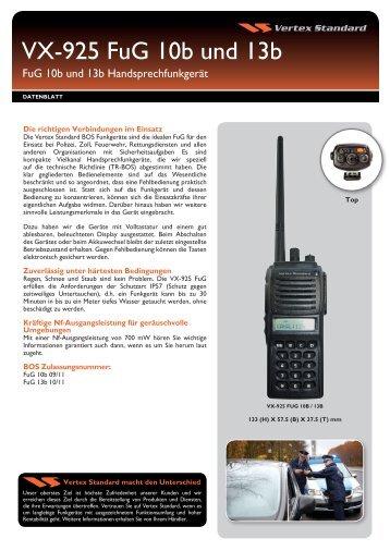 VX-925 Serie Technische Daten - Vertex Standard
