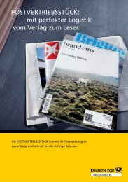 PoStVertrieBSStück: mit perfekter Logistik vom ... - Deutsche Post