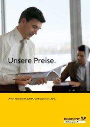 Preise Presse Distribution - Deutsche Post