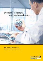Beilagen: vielseitig und werbewirksam. - Deutsche Post