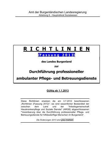 Richtlinien des Landes zur Durchführung ... - Burgenland.at