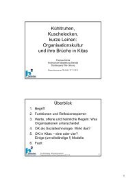 Organisationskultur/en in Kitas und ihre Brüche - Hochschule ...