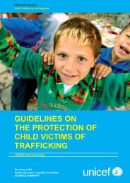 GUIDELINES ON THE PROTECTION OF CHILD VICTIMS ... - Unicef