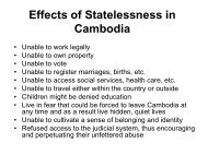 Statelessness in Cambodia - HumanTrafficking.org