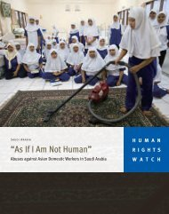 """As If I Am Not Human"" - Human Rights Watch"