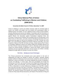 China National Plan of Action on Combating Trafficking in Women ...