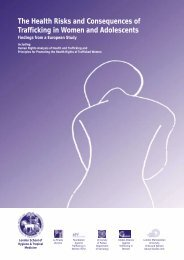 The Health Risks and Consequences of Trafficking in Women and ...