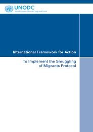 International Framework for Action: To Implement the Smuggling of ...