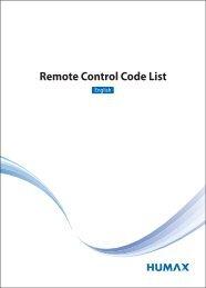 RCU Code list_MDB1.2.indd - Humax
