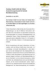 Humbaur GmbH erhält die Coface Auszeichnungsurkunde für ...