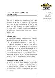 1 Humbaur Rückwärtskipper GARANT ALU – stabil und vielseitig ...