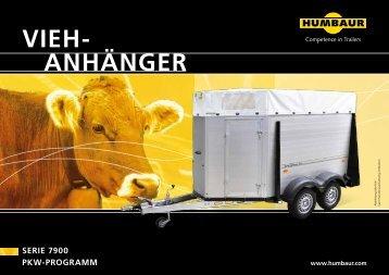 Serie 7900 PKW-Programm aNHÄNger VieH - Humbaur