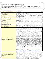 Lehrveranstaltungen Fachbereich Gestaltung Wintersemester 2013/14