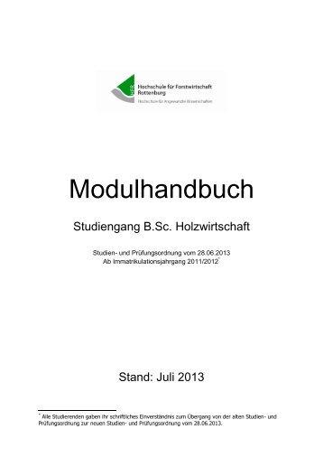 Modulhandbuch (PDF) - Hochschule Rottenburg
