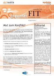FIT Zentrum Newsletter 08 - update training