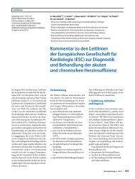 ESC - Leitlinien - Deutsche Gesellschaft für Kardiologie