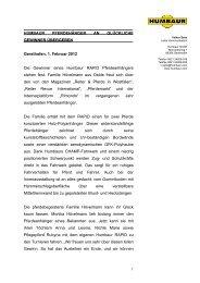 Humbaur Pressemitteilung Gewinnspiel Pferdeanhaenger