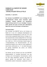 EIN MULTITALENT FÜR ALLE FÄLLE - Humbaur