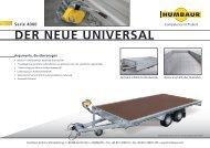 DER NEUE UNIVERSAL - Humbaur