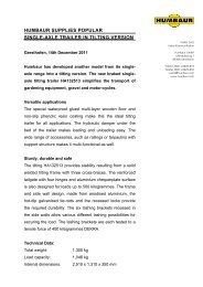 Humbaur press release HA132513 in tilting version