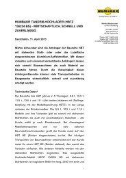humbaur tandem-hochlader (hbtz 136224 bs) - wirtschaftlich ...