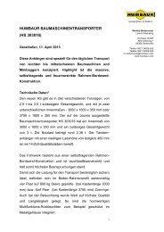 HUMBAUR BAUMASCHINENTRANSPORTER (HS 303016)