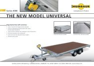 THE NEW MODEL UNIVERSAL - Humbaur