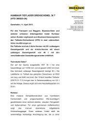 HUMBAUR TIEFLADER DREHSCHEMEL 30 T (HTD 308525-3A)