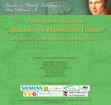 Einladung zu der Präsentation - Humboldt Kulturforum